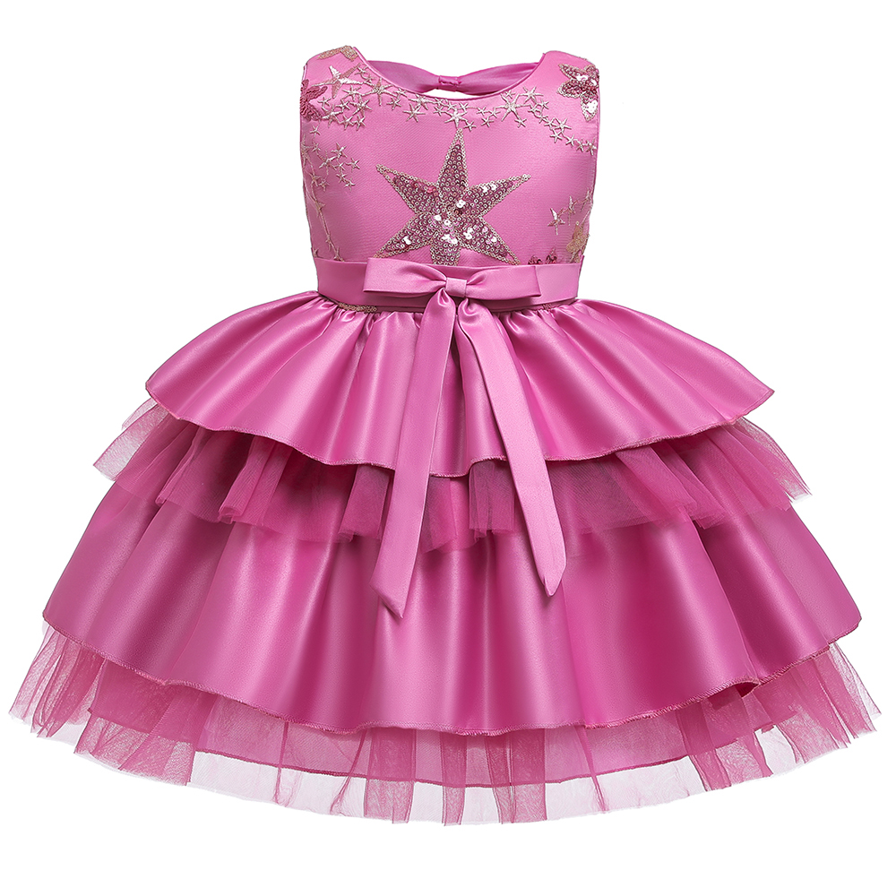 2019New Year Gift Layered Tutu Dress Girl Kids Dresses For Girls Clothes Vestidos Gown Party Wedding Dress Princess Communion