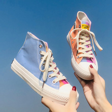 Casual Cross-tied Flat Concise Breathable Sneakers Lace-Up Solid Women's Shoes D
