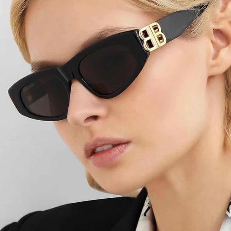 Cat Eye  Sunglasses Women Fashion 2021 Brand Designer Color Gradient Lens Sun Glasses Cool B  Party Beach Glasses UV400