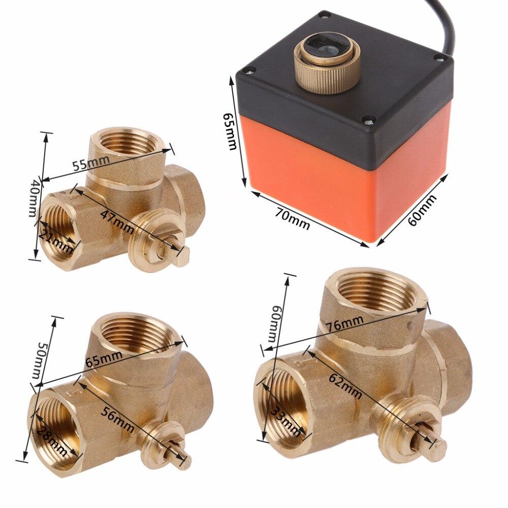 Трехходовой моторизованный шаровой клапан электрический трехлинейный двухсторонний контроль AC 220 DN15/DN20/DN25