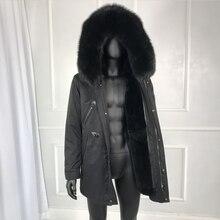 Парка с капюшоном и воротником из натурального Лисьего меха, зимняя мужская верхняя одежда высокого качества, новая мужская зимняя верхняя одежда, Классическая куртка