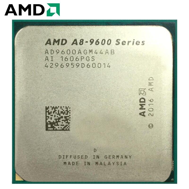 AMD A8-Series A8-9600 AD9600AGM44AB APU A8 9600 APU Quad-Core CPU 100% Working Properly Desktop Processor 65W 3.1GHz Socket AM4
