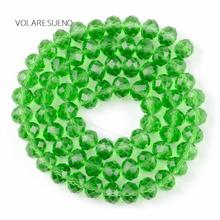 "Faceted Green Rondelle Austria Crystal Glass Loose Beads 15"" Pick 4-12mm Spacer Beads For Charm Necklace Bracelet Jewelry Making 10pcs hot cut faceted color crystal glass beads fit european bracelet spacer original pandora charm bracelet for jewelry making"
