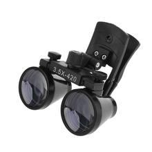Loupe binoculaire 2.5X 3.5X lentille de verre optique Loupe à Clip