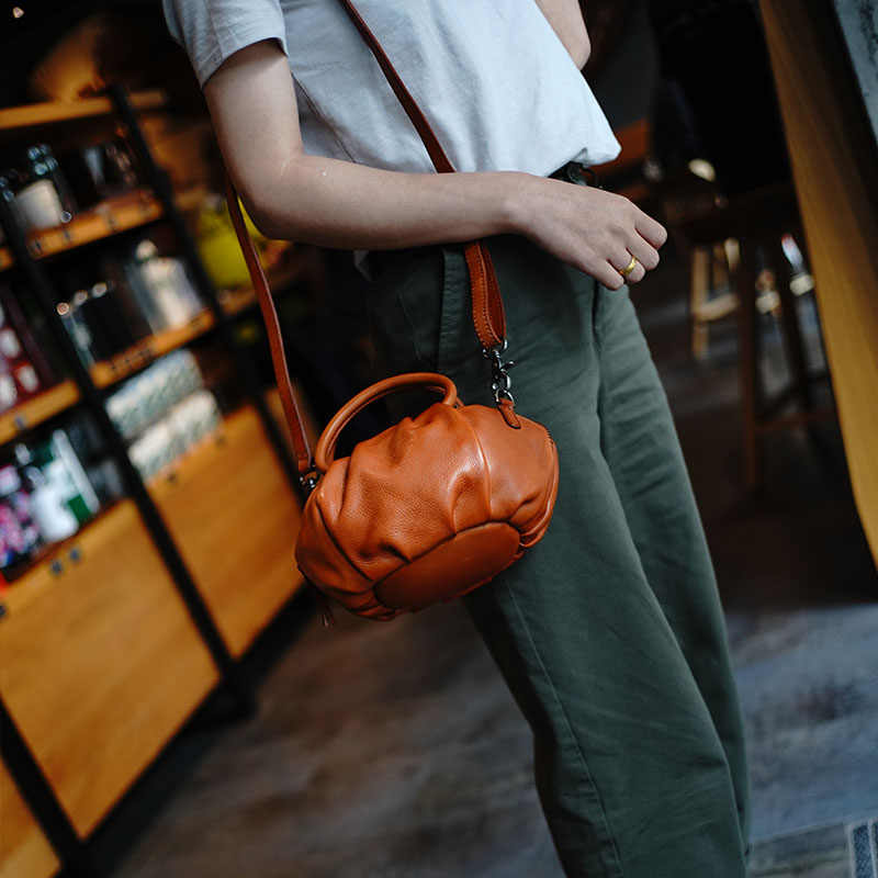 WOONAM Beperkte Productie Prachtige Tas Italië Natuurlijke Soepel Echt Nappa Lederen Handvat Cross Body Bag WB1046