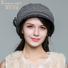 Autumn Winter Ladies Hats Women Thermal Elegant Fashion Beret Hat Wool Bucket Female Headwear 4821
