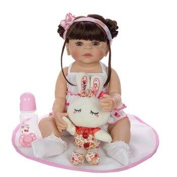 Bebe reborn lol baby reborn bonecas 22inch 55cm full silicone vinyl body girl reborn toddler bonecas for child gift toys