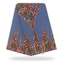 Африканская восковая ткань с принтом 100% хлопчатобумажная Высококачественная