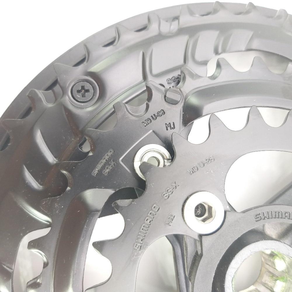 Shimano Altus FC M311 6//7//8 Vitesse Vélo Pédalier BLK 175 mm 48//38//28T avec chaîne