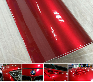 Image 5 - Premium quality 10/20/30/40/50/60X152CM/Lot Red Metallic Glossy Glitter Wrap Sticker for car wraps Glossy Candy Gold Vinyl Film
