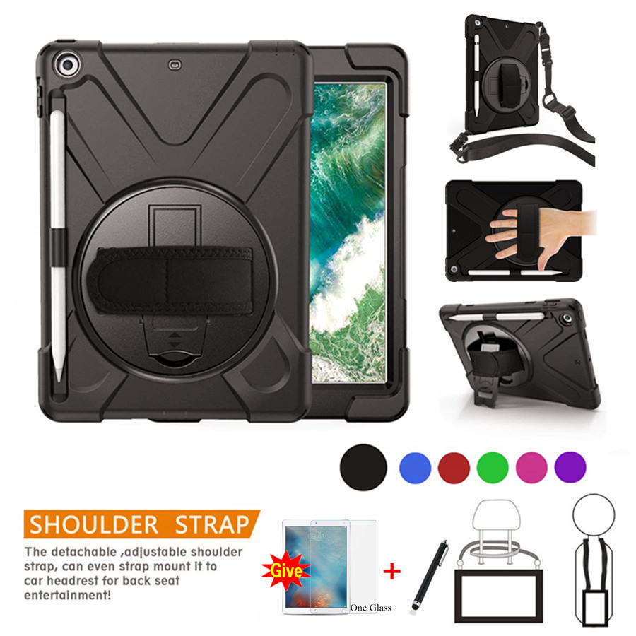 Case For New iPad 10.2 2019 Pencil Holder Cover For iPad 10.2 7th Generation A2197 Kids Safe Shockproof Armor cover+Glass+Pen|Tablets & e-Books Case| |  - title=