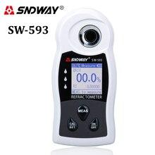 SNDWAY مقياس انكسار رقمي سكر Brix متر Saccharimeter النبيذ البيرة الكحول شرب الفاكهة السكر تركيز مقياس الضغط