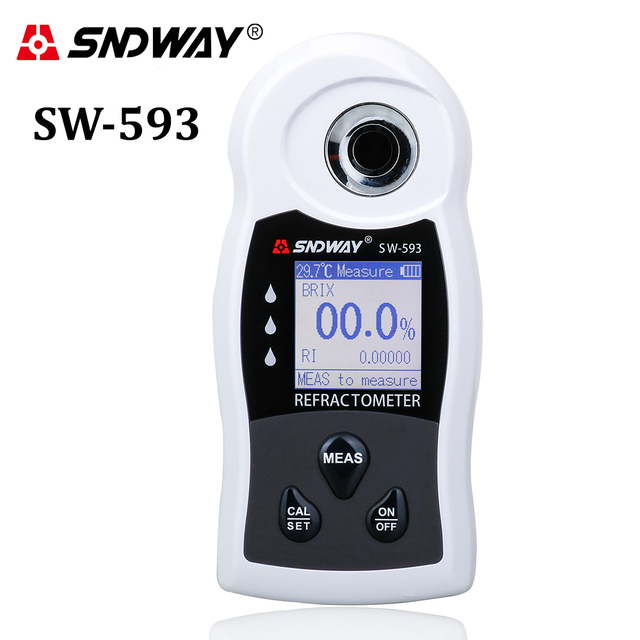 SNDWAY Digital Refractometer Sugar Brix Meter Saccharimeter Wine Beer Alcohol Drink Fruit Sugar Concentration Hydrometer