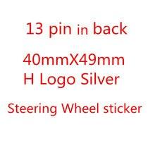 Alta qualidade abs prata volante do carro emblema emblema h logotipo apto para h-onda c-ivic acessórios de automóvel estilo do carro