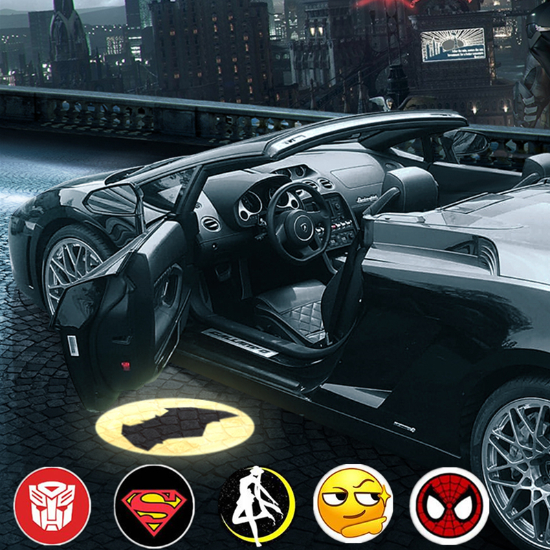 1 Pcs Universal Wireless Car Door LEd Welcome Laser Projector Logo Shadow Light Batman Decoration Car-styling Car Interior Lamp