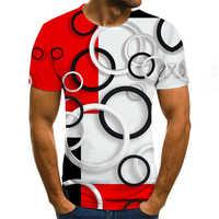 Camiseta de verano 2020 para hombres, camisetas de manga corta con cuello redondo, camisetas de estilo Punk, ropa masculina, camiseta informal con estampado 3D