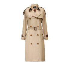 New High Fashion Women's Waterproof Cotton Long Double-breasted The Westminster Heritage Trench Coat