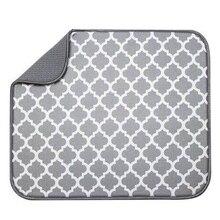 Mat Drying-Mat Tableware Kitchen for Cushion-Pad Drainer Microfiber 30--40cm