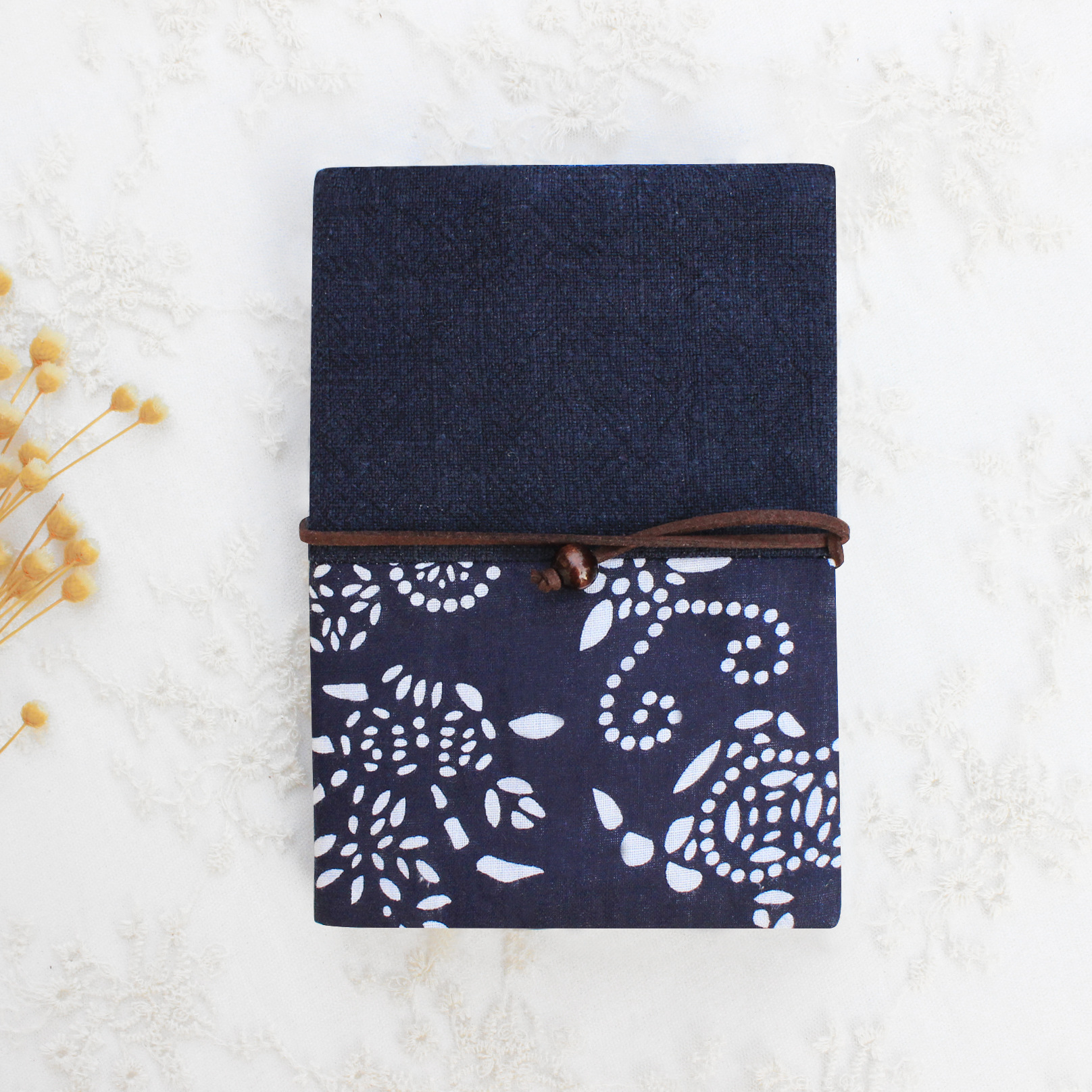 [Qian Li] Ink Blue Pin Jie Bu Slipcover Laptop Fabric Cover PDA A5A6 Size Currently Available