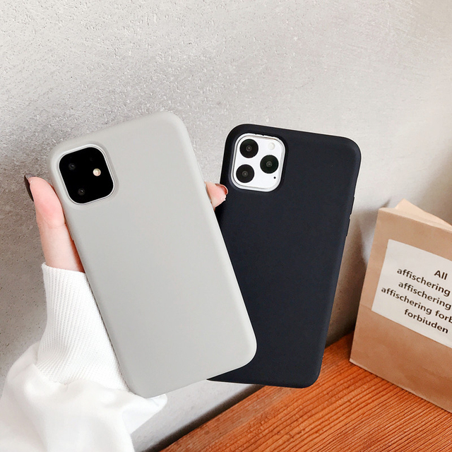 For iPhone case 11 Pro Max 6 6s 7 8 Plus X Xs Max Cover Luxury Original Soft TPU Cover Accessories Bag Layers Shell Fitted Cases 5