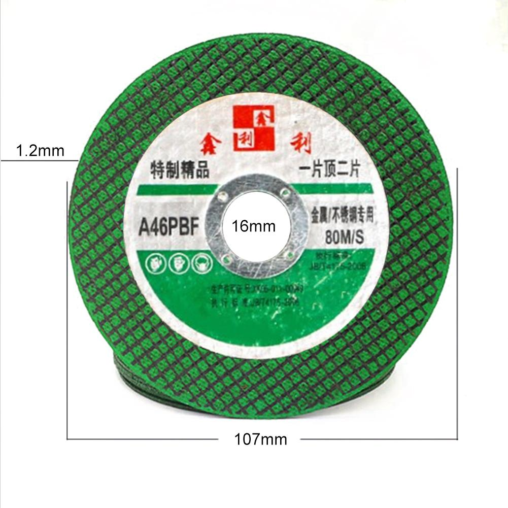 Image 5 - 25/50PCS Resin Cutting Disc Grinding Wheel Abrasive Cutting Disc Drill for Stainless Steel&Metal 100mm Angle Grinder Accessories-in Abrasive Tools from Tools