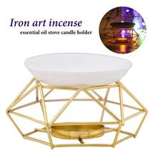 Essential Oil Burner Stainless Steel gold Aromatherapy Aroma Glass Lamp nordic Gift Crafts Home Decoration kaarsen essential oil