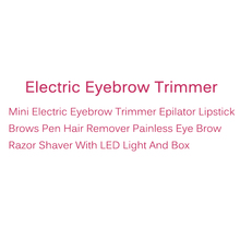 Mini Electric Eyebrow Trimmer Epilator Lipstick Brows Pen Hair Remover