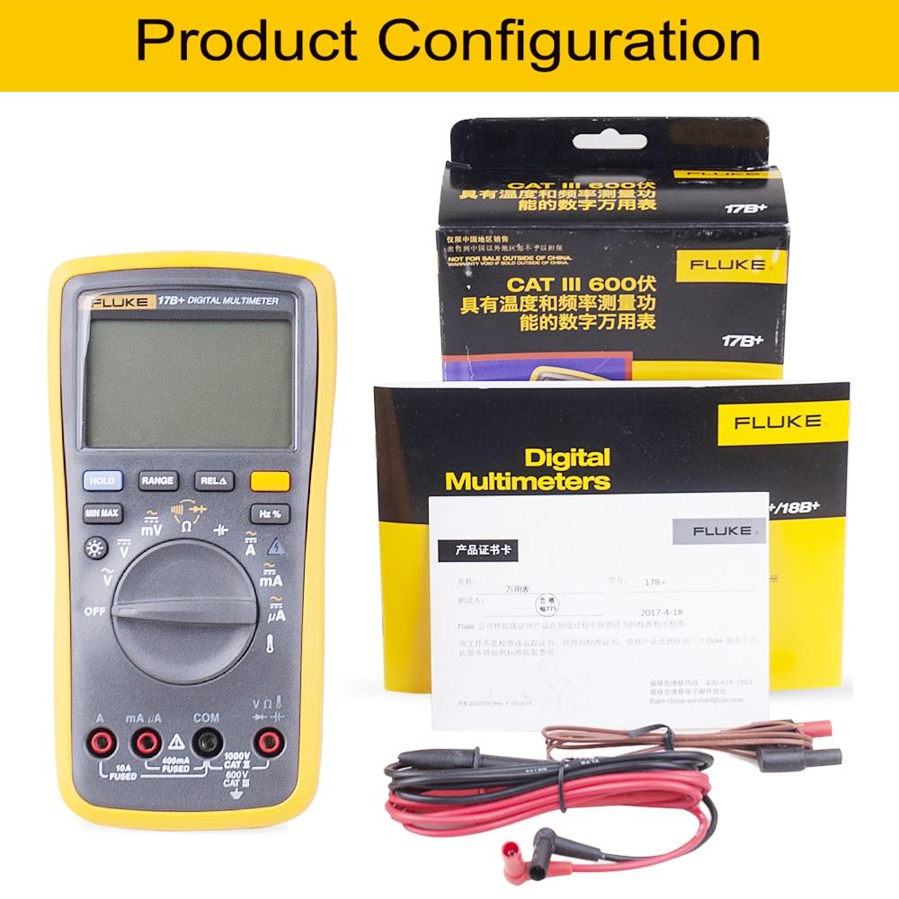 Digital   Frequency Fluke Temperature Probe  Multimeter Auto Amp 17B Range Meter