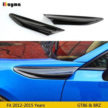 Carbon fiber side spoiler For toyota 86 2012-2015 fender decorative spoiler wing for subaru BRZ for scion GT86 CF styling 2 pcs image