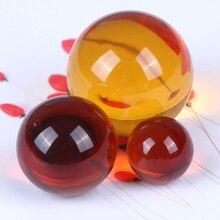 Камень на удачу, драгоценный камень 20/30/40 мм, янтарный золотой камень, песок, сфера, хрустальный шар, чакра, восстанавливающие искусственные ...