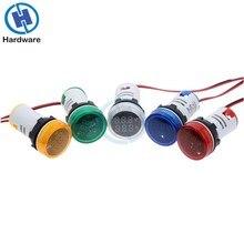 цена на Digital Ammeter 22mm Square AC 50-500V 0-100A Amp Volt Voltage Tester Meter Dual LED Indicator Pilot Lamp Light