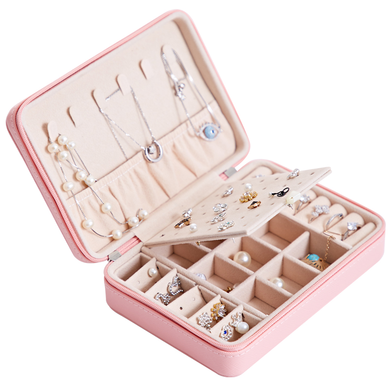 Jewelry Box Travel Comestic Jewelry Casket Organizer Makeup Lipstick Storage Box Beauty Container Necklace Birthday Gift|Jewelry Packaging & Display| - AliExpress