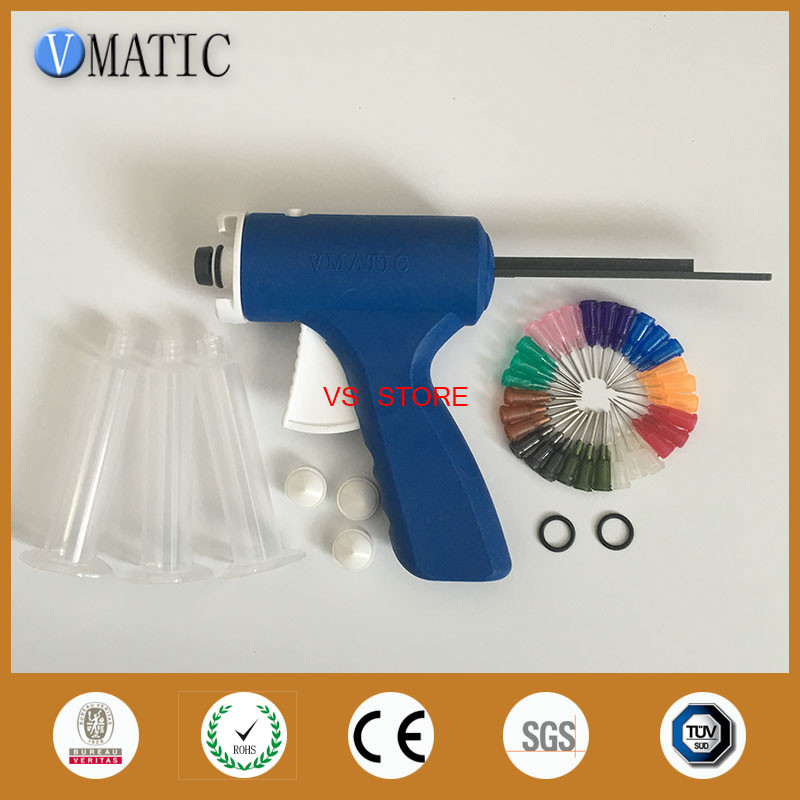 Free Shipping Blue Color Quality 10 Cc/ml Industrial Glue Dispensing Caulking Syringe Gun