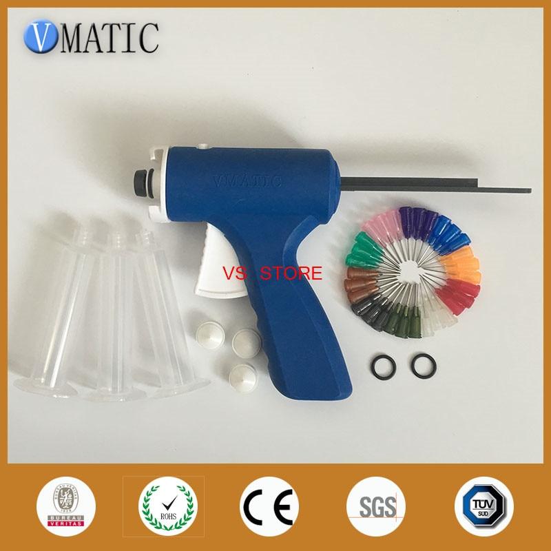 Free Shipping Blue Color Quality 10 Cc/ml Industrial Glue Dispensing Caulking Syringe Gun