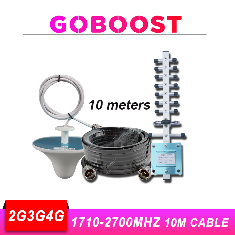 2g Gsm 900 Repeater Lte 1800 3g 4g Antenna Gsm For Mobile Cellular Signal Booster Yagi Antenna Whip Antenna 10m Cable Kit #