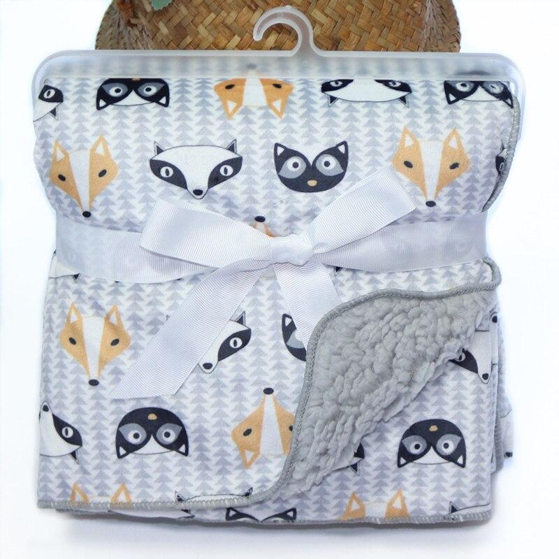Купить утолщенное детское одеяло пушистая флисовая пеленка для новорожденных