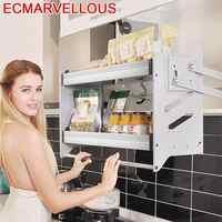 Für Mutfak Malzemeleri Und Rangement Küche Edelstahl Hängen Rack Cozinha Organizer Küche Schrank Lagerung Korb