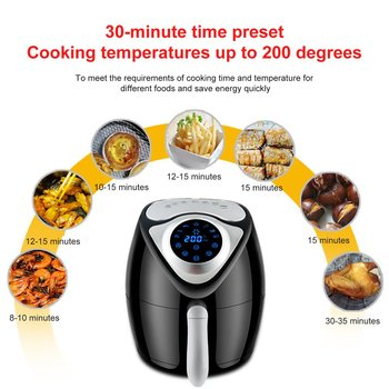 1300W/2.6L Air Fryer Large Capacity Air Fryer Household Smoke-free Electric Frying Pan Smart Touch Screen Fries Machine EU plug air frying pan new special price large capacity intelligent oil smoke free fries machine automatic electric frying pan 220v 3l