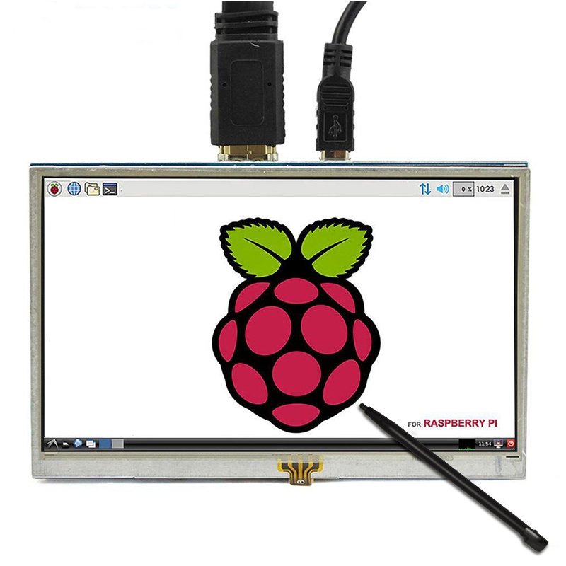 wholesale Raspberry Pi  5 Inch screen 800*480 HDMI LCD Touch Screen Display Kit for Raspberry Pi 4B/3B+/3B/ Banana Pi