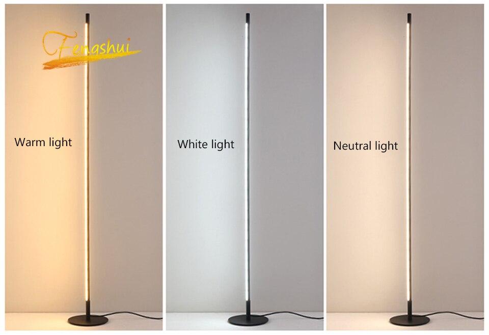 pé lâmpadas sala estar led preto branco