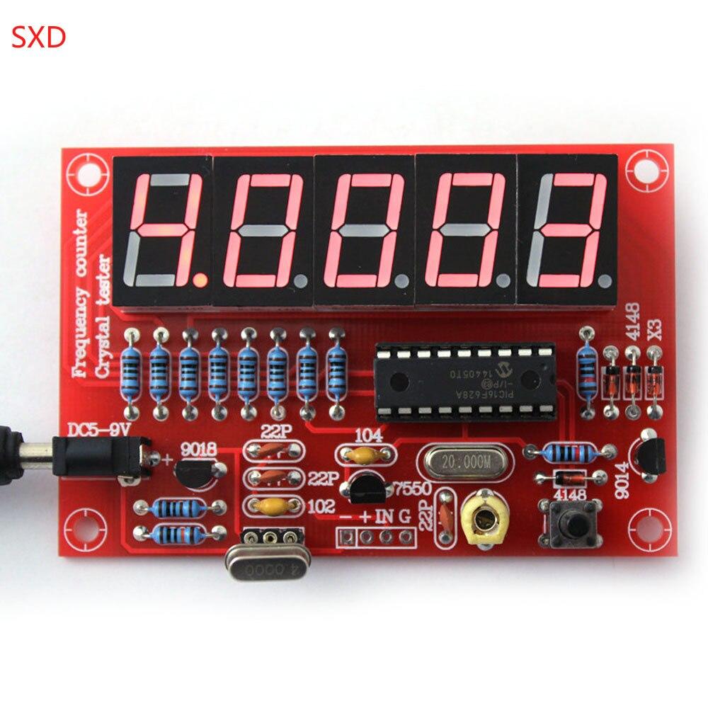 10Set lot DIY Kits RF 1Hz 50MHz Crystal Oscillator Frequency Counter Meter Digital LED Tester Meter