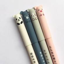4 pièces/ensemble Kawaii cochon ours chat souris effaçable Gel stylo école fournitures de bureau papeterie cadeau 0.35mm bleu noir encre stylo d'écriture