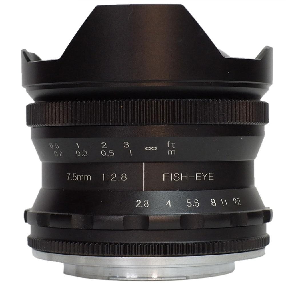 7.5mm. 8 accessoires Portable cadre photographie Fisheye objectif grand Angle caméra Macro stable Mini Portable noir pour Canon