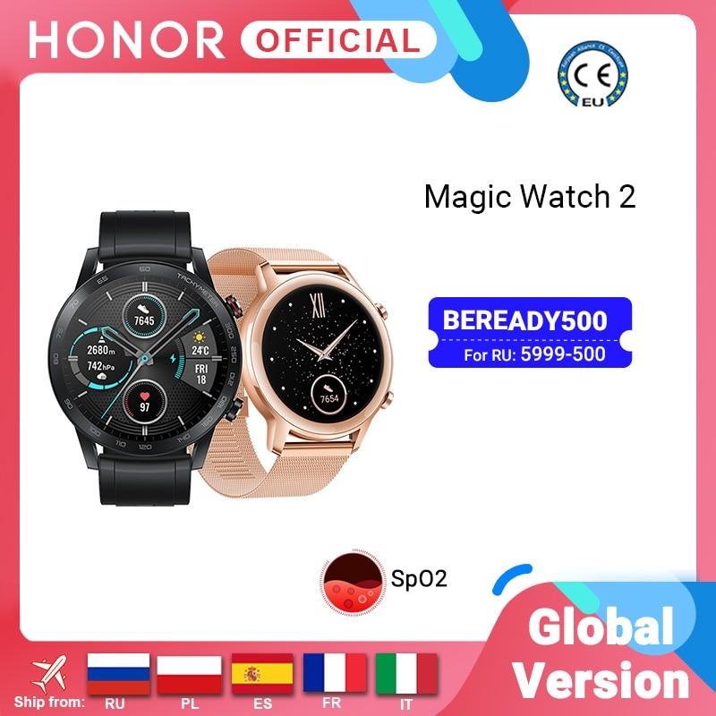 In Stock Global Version Honor Magic Watch 2 Smart Watch Bluetooth 5.1 Smartwatch Blood Oxygen 14 Days Waterproof MagicWatch 2 Smart Watches  - AliExpress