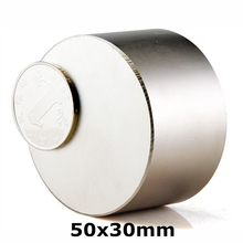 1pcs N52 Dia 50x30 mm hot round magnet Strong 50*30 mm magnets Rare Earth Neodymium Magnet powerful permanent magnetic
