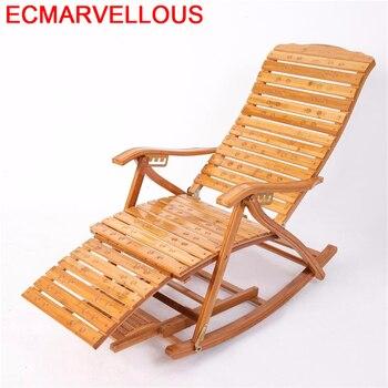 Brazo balcón muebles mecedora Cama Plegable de bambú Plegable Cama Fauteuil salón...