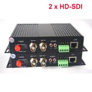 Image 1 - 2 kanal HD SDI Fiber Optik Medya Dönüştürücüler Video/Ses/RS485 Veri/10/100 Mbps Ethernet fiber Verici ve Alıcı