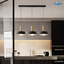 Light Luxury Restaurant Chandelier Three-headed Nordic lamp Simple Modern Creative personality Bedroom bar light