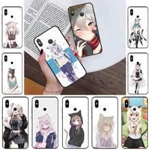 Nekomimi Catgirl Телефон чехол для Xiaomi Redmi note 4 4X 8T 9 9s 10 K20 K30 cc9 9t pro lite max