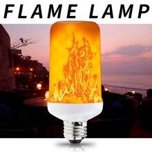 E27 12V Fire Light Flame Led Bulb E14 Lamp 220V LED Burning E26 Candle Flickering Emulation Decoration 110V